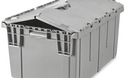 Consider plastic storage bins instead of cardboard boxes for your move.